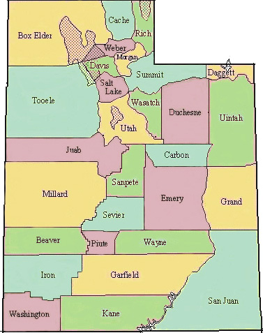 County Utah Map.Birding By County